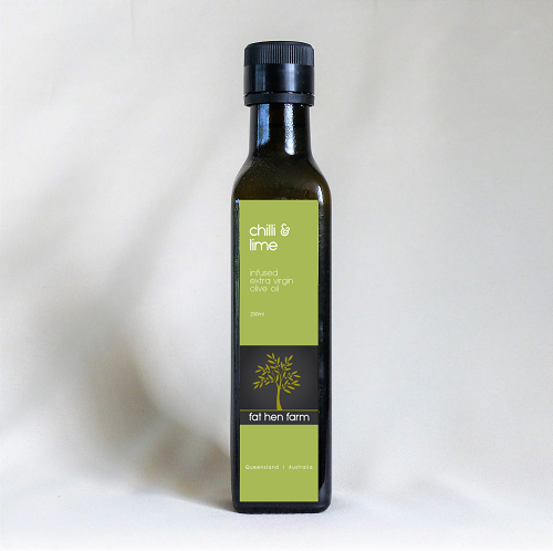 Chilli & lime infused extra virgin olive oil