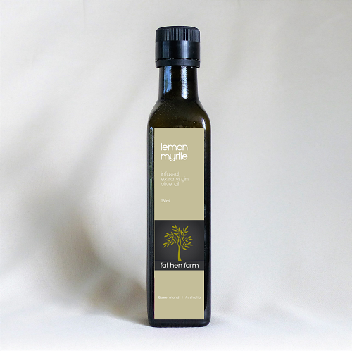 Lemon Myrtle infused extra virgin olive oil
