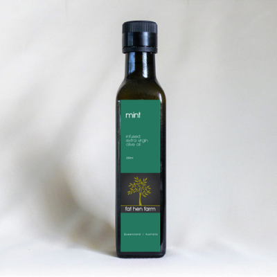 Mint infused extra virgin olive oil